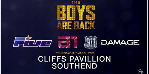 The boys are back! 5ive/A1/Damage/911 (Cliffs Pavilion, Southend)