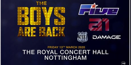 The boys are back! 5ive/A1/Damage/911 (Royal Concert Hall, Nottingham) tickets