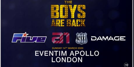 The boys are back! 5ive/A1/Damage/911 (Eventim Apollo,London) tickets