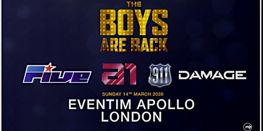 The boys are back! 5ive/A1/Damage/911 (Eventim Apollo,London)