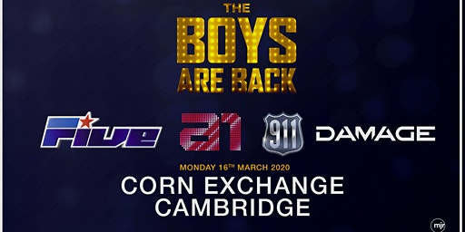The boys are back! 5ive/A1/Damage/911 (Corn Exchange, Cambridge)