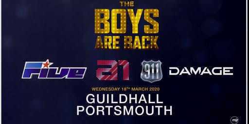 The boys are back! 5ive/A1/Damage/911 (Guildhall, Portsmouth)