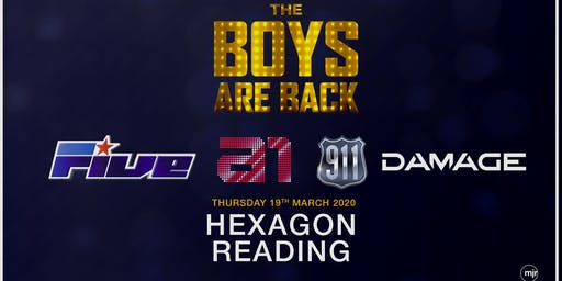 The boys are back! 5ive/A1/Damage/911 (Hexagon, Reading)