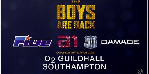 The boys are back! 5ive/A1/Damage/911 (O2 Guildhall, Southampton)