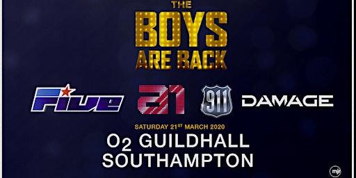 The boys are back! 5ive/A1/Damage/911 (O2 Guildhall, Southampton)