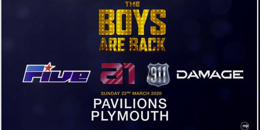 The boys are back! 5ive/A1/Damage/911 (Plymouth Pavilions, Plymouth)