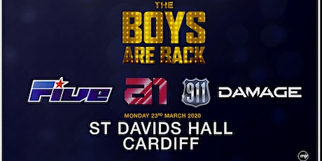 The boys are back! 5ive/A1/Damage/911 (St Davids Hall, Cardiff) tickets