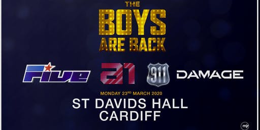 The boys are back! 5ive/A1/Damage/911 (St Davids Hall, Cardiff)