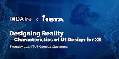 IxDATre x Insta: Designing reality - characteristics of UI design for XR