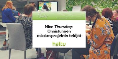 Nice Tuesday Tampere & Haltu: Onnistuneen asiakasprojektin tekijät