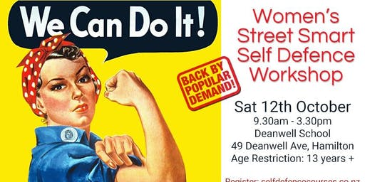 Women's Street Smart Self Defence Workshop - Hamilton 12th Oct 2019