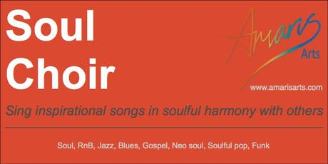 Soul Choir FREE taster any time - Sing inspirational songs in soulful harmony tickets