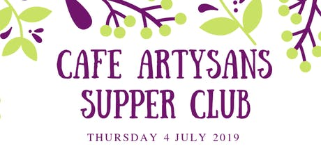Cafe Artysans Supper Club tickets