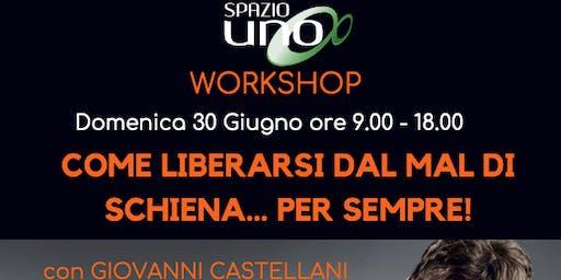 Liberati dal mal di schiena per sempre: fast workshop (Giovanni Castellani)