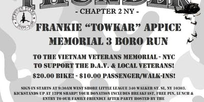 "Frankie ""Towkar"" Appice Memorial 3 Boro Run and Event"