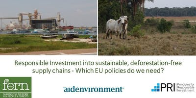 Responsible Investment for Sustainable, Deforestation-free Agricultural Supply chains  - Which EU policies do we need?