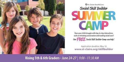 Social Skill Builder Summer Camp - Rising 5th & 6th Graders