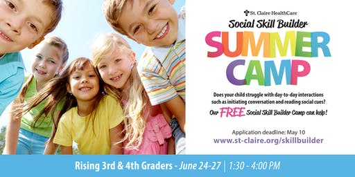 Social Skill Builder Summer Camp - Rising 3rd & 4th Graders