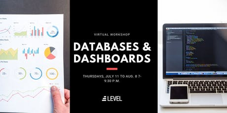 Databases and Dashboards - Online Intro to SQL and Tableau (July) tickets