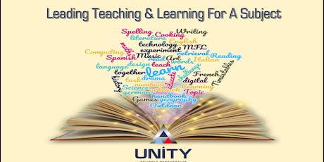 Leading Teaching  & Learning for a subject - DT tickets