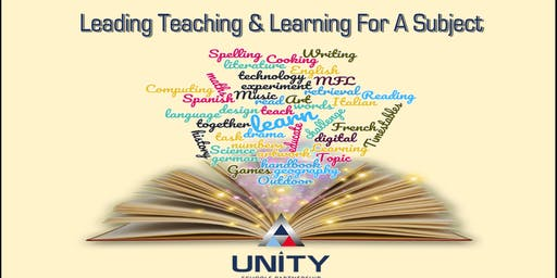 Leading Teaching  & Learning for a subject - DT