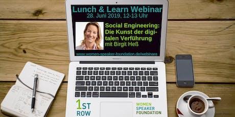 "Live-Webinar ""Social Engineering - Die Kunst der digitalen Verführung"" mit Birgit Hess Tickets"