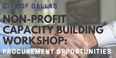 Non-Profit Capacity Building Workshop: Procurement Opportunities