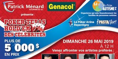 Tournoi de poker des Célébrités au profit de Action Autisme