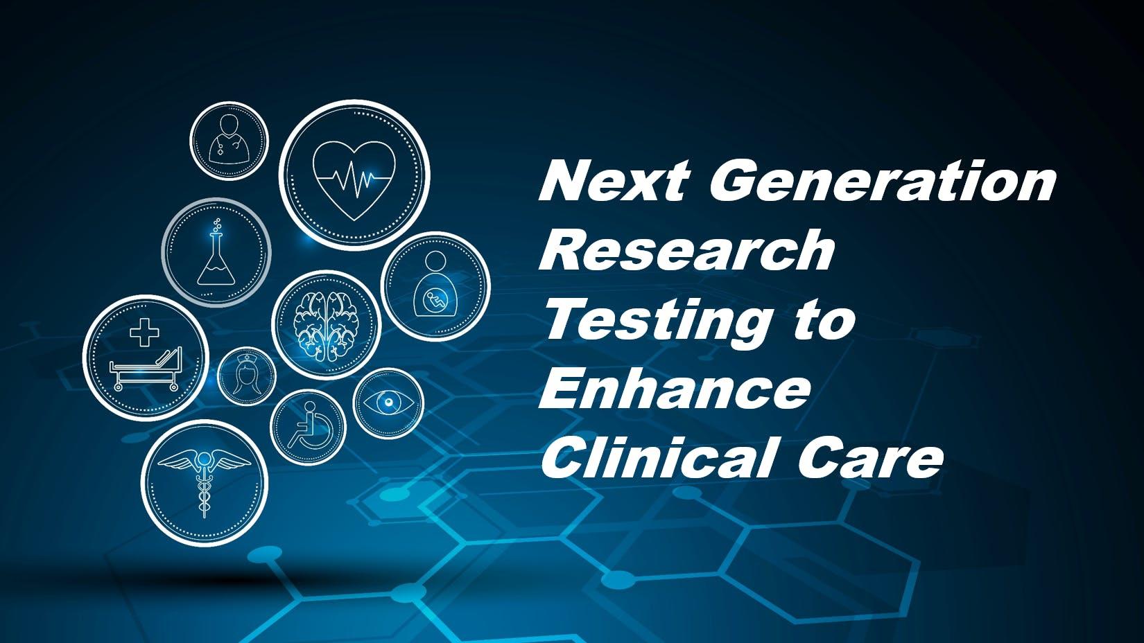 Symposium: Next Generation Research Testing