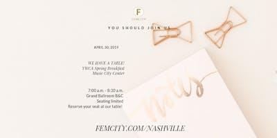 FemCity YWCA Spring Breakfast Table
