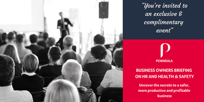 Business Owners Briefing on HR and Health & Safety Seminar - Richmond Hill - May 7