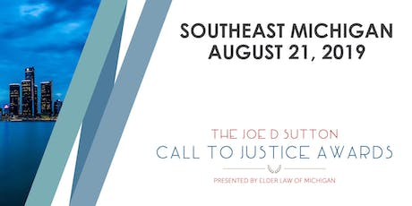 The Joe D. Sutton Call to Justice Awards - Southeast Michigan Event, Wednesday, August 21, 2019 tickets