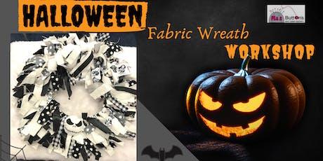 Halloween Fabric Wreath Workshop tickets