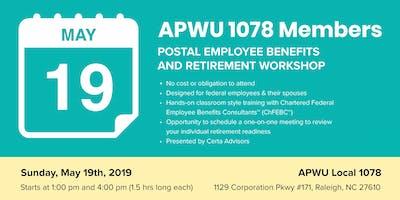 APWU 1078 Retirement Workshop in Raleigh, NC