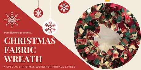 Christmas Fabric Wreath Workshop tickets