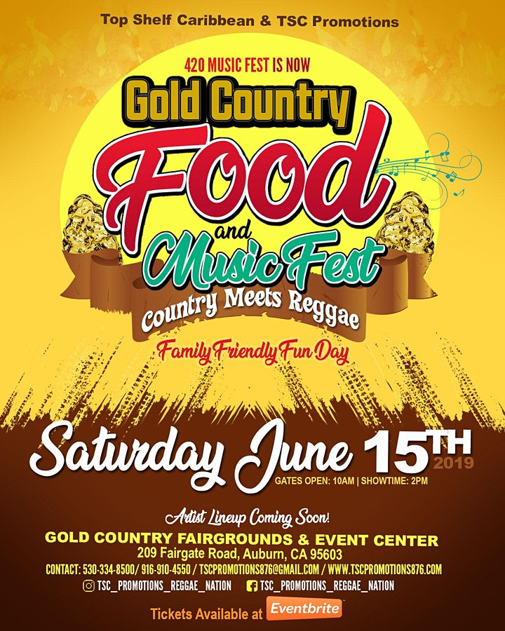 Gold Country Food & Music Fest - Country meets Reggae image