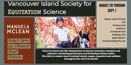 Vancouver Island Society for Equitation Science presents Manuela McLean tickets
