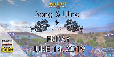 95.3 KRTY and DGDG.com Present the 2019 Song and Wine Series Friday June 14