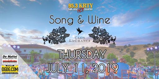 95.3 KRTY & DeMattei Construction Present 2019 Song & Wine Series Thu July 11