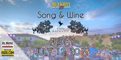 95.3 KRTY and DGDG.com Present the 2019 Song and Wine Series Friday July 12