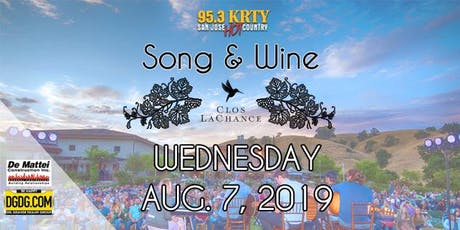 95.3 KRTY & DeMattei Construction Present 2019 Song & Wine Series Wed Aug 7 Tickets