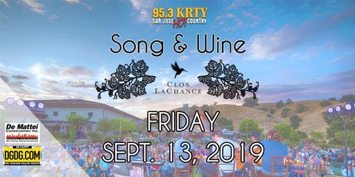 95.3 KRTY and DGDG.com Present the 2019 Song and Wine Series Friday September 13