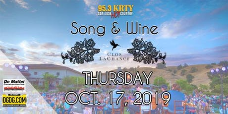 95.3 & DeMattei Construction Present 2019 Song & Wine Series Thu Oct 17 tickets