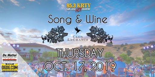 95.3 & DeMattei Construction Present 2019 Song & Wine Series Thu Oct 17