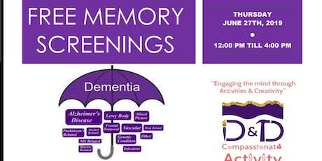 FREE MEMORY SCREENINGS  tickets