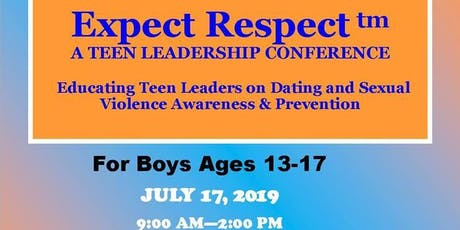 Expect Respect: A Teen Leadership Conference(boys) tickets