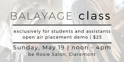 Balayage Class: Students & Assistant Exclusive