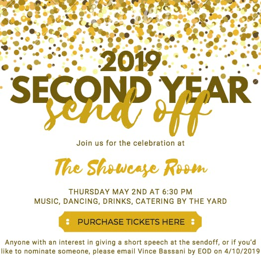 2019 Second Year Sendoff
