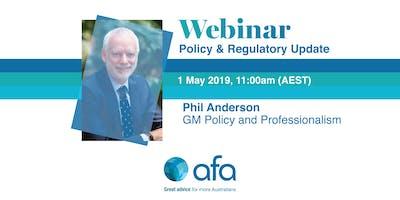 AFA Policy & Regulatory Update - Webinar