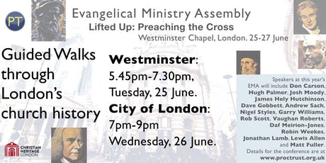 EMA Christian Heritage London walk through the church history of Westminster tickets